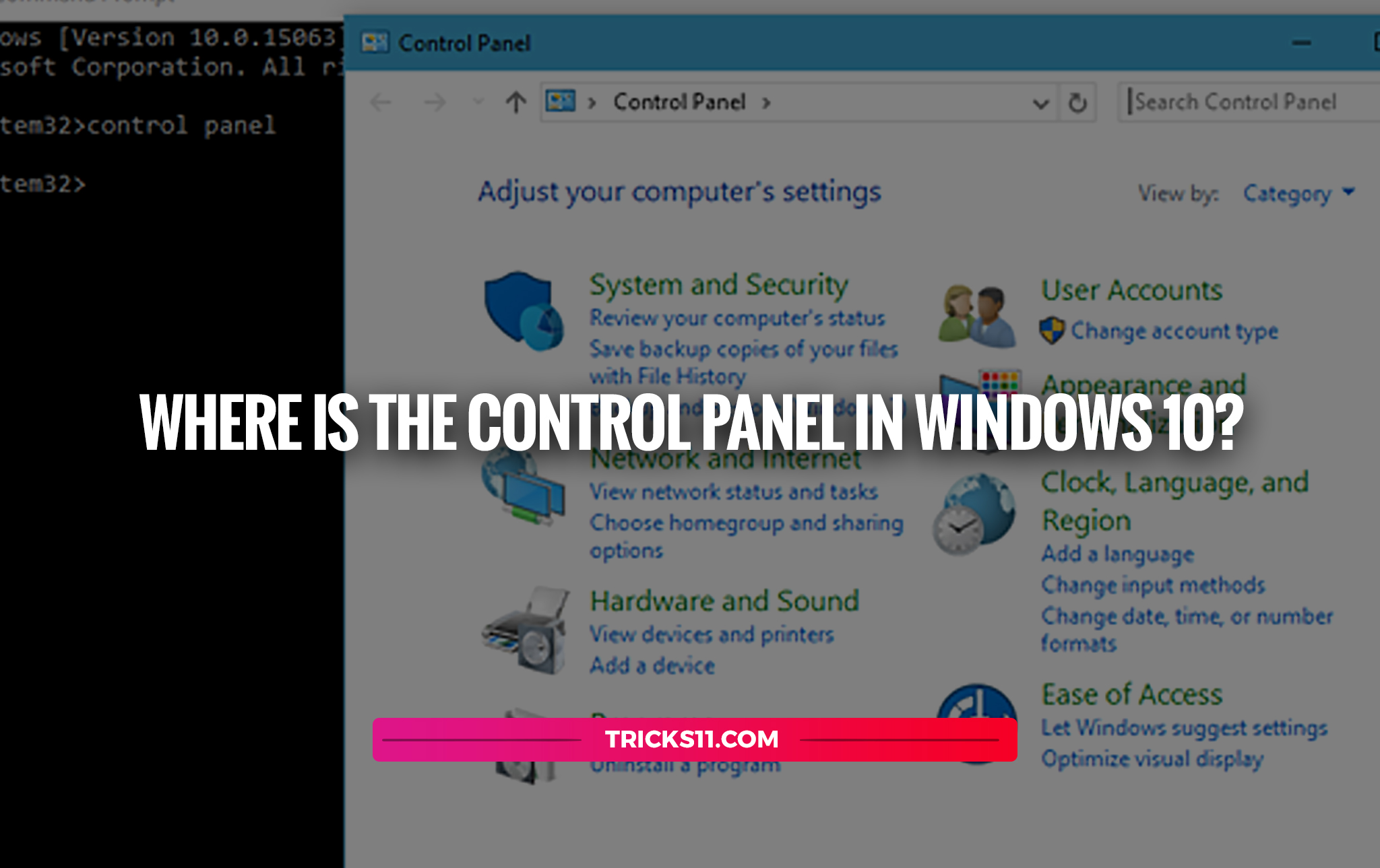 Where Is The Control Panel In Windows 10?