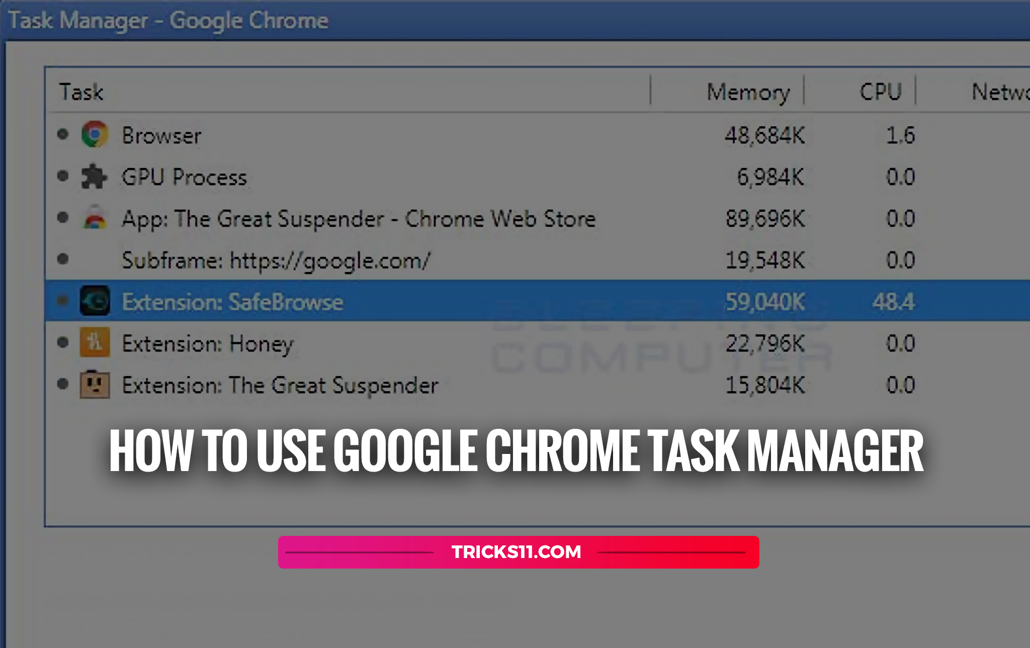 How To Use Google Chrome Task Manager